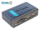 D-Link DKVM-4K 4口塑壳桌面型,用于连接PS/2接口服务器,送2组1.8米3合1 PS/2 KVM连接线