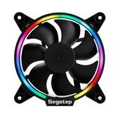鑫谷光致12炫彩RGB机箱散热风扇/台式机/组装电脑主机12CM静音LED炫光风扇 RGB