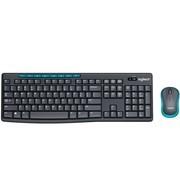 罗技MK275无线键鼠套装笔记本台式电脑键盘鼠标家用防水MK270/MK235升级版办公家用商务游戏省电