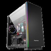 鑫欲F1电脑机箱/支持ATX主板/钢化玻璃侧透/背线