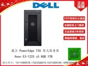 戴尔 PowerEdge T30 塔式服务器(Xeon E3-1225 v5/8GB/1TB)