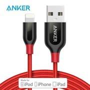 Anker安克 MFi认证 7/6/5s苹果数据线 1.8米红 拉车手机充电器线电源线