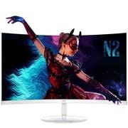 AOC 27英寸1500R高弯曲面75HZ 1.2mm窄边框 电脑显示器 C27N2H