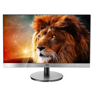 【行货保证】AOC I2369V 23英寸LED背光窄边框IPS广视角液晶显示器(银黑色)