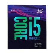 英特尔(Intel)i5-9600K 酷睿六核 盒装CPU处理器 9代CPU