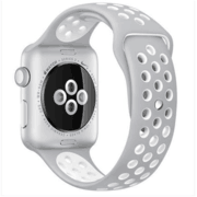 【apple授权专卖】WATCH SerieS2 38mm(NQ2)银搭冷银配白