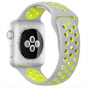 【apple授权专卖】WATCH SerieS2 42mm(YQ2)银搭冷银配荧黄