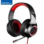 漫步者(EDIFIER)G4游戏耳机头戴式带线控7.1声 红色