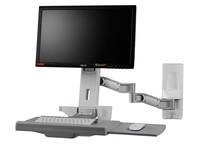 TOPSKYS OEW20显示器支架医用工作台二节旋臂键盘托电脑挂架