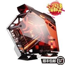 骨伽(COUGAR) 全透明征服者游戏定制 吃鸡 钢化玻璃机箱/360水冷 黑 黑橙