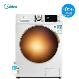 美的洗衣机(Midea)MD100V71WDX 10公斤变频滚筒智能全自动洗烘一体