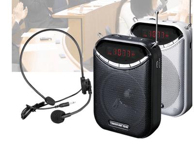 得胜E190M 有线扩音器 FM收音播放录音插卡音箱便携多功能小密蜂 一键语音FM录音 支持MP3 WAV WMA