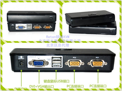 Reton KS-1002U 桌面级 2口KVM 切换器 原装正品 假一罚十