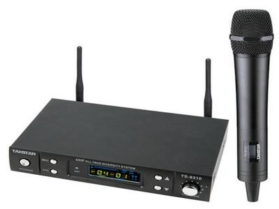 得胜 TS-8310 分集式专业 舞台 演出 无线麦克风 UHF无线话筒 TS-8310G【金色】TS-8031B【黑色】是1拖1 U段高端麦克风【包邮】