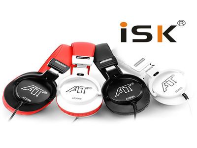包邮ISK AT2000全封闭式监听耳机 录音监听 效果棒 性价比强  四色可选