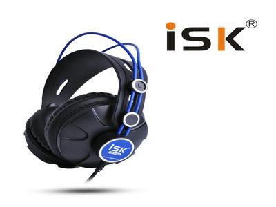 ISK HP-680电脑K歌yy主播录音棚重低音DJ耳麦专业监听耳机 头戴式 DJ监听 录音棚 主播喊麦 听音乐 *品质保证