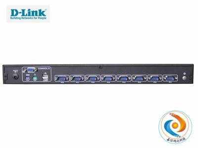 包邮 D-Link DKVM-108C 8口 USB PS2双混接切换器 企业级 1U  行货  厂家售后 包邮