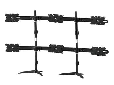 TOPSKYS TS636E桌面底座式悬臂伸缩旋转升降调节通用六屏多屏幕电脑液晶显示器支架 锁孔式TI6363E