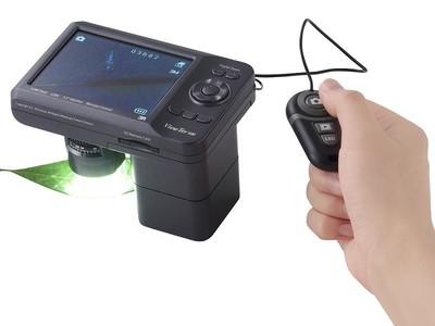 艾尼提 视屏数码显微镜3R-MSV500 白紫/白红双光 带防抖动拍照遥控器 500万像素