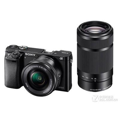 Sony 索尼 ILCE-6000套机(E PZ 16-50mm,55-210mm)4D对焦高速