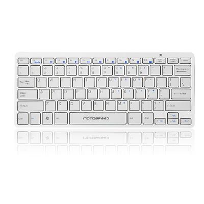 摩豹 K-100G键盘苹果风格白色无线单键盘超薄静音迷你键盘笔记本台式机外接小键盘
