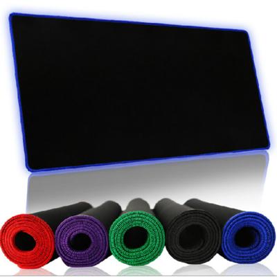 包邮游戏鼠标垫大锁边键盘垫办公桌垫大鼠标垫桌垫橡胶布面
