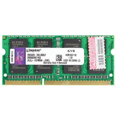 金士顿 8GB DDR3 1600(笔记本) 兼容性好   让你的笔记本 健步如飞
