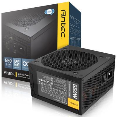 安钛克(Antec)额定550W VP 550P V2 电脑电源(主动式PFC/12CM静音风扇/双6+2Pin显卡接头)