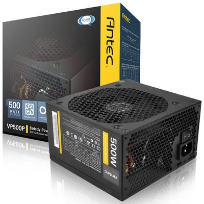 【行货保证限时特惠】安钛克(Antec)额定500W VP500P 电脑电源(主动式PFC/12CM静音风扇/双管正激/台式机电源)