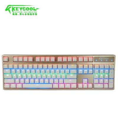 大促包邮  凯酷(KEYCOOL)104 LED荣耀版七彩背光游戏无冲机械键盘