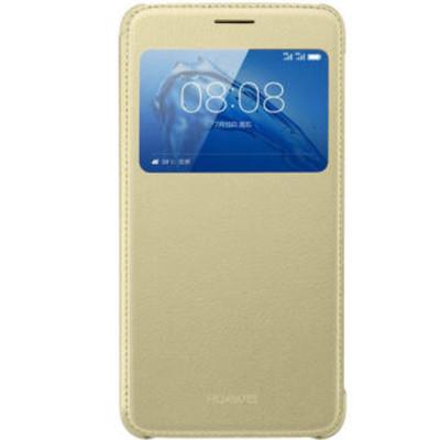 华为 原装麦芒5手机壳 智能开窗翻盖保护套 适用麦芒5/g9plus 金色