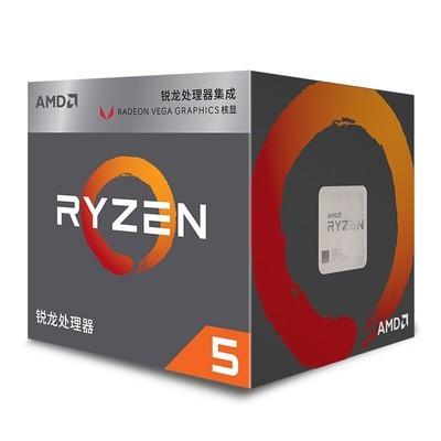 AMD 锐龙 5 2400G 处理器搭  3.6GHz 盒装CPU处理器