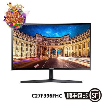 三星 C27F396FHC 27英寸1800R曲面 广视角HDMI高清电脑液晶显示器