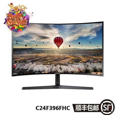 三星 C24F396FHC 23.5英寸1800R曲面 广视角HDMI高清电脑液晶显示器