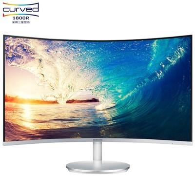 三星 C27F591FDC 27英寸 1800R曲面窄边框HDMI/DP高清电脑显示器