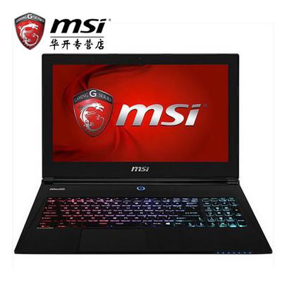 微星(MSI)GS60 6QE-243CN 15.6英寸游戏本电脑(i7-6700HQ 16G 1T 128GSSD GTX970M GDDR5 多彩背光)黑色 游戏悍将