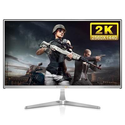 易美逊 冠捷2K显示器27英寸IPS超薄高清液晶电脑吃鸡显示屏 广视角不闪屏G272Q