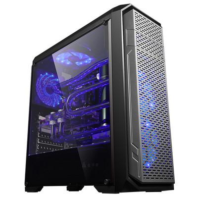 金河田竞技大师G7台式机电脑主机箱ATX侧透水冷游戏机箱USB3.0