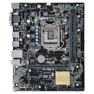 华硕(ASUS)H110M-K DDR4 LGA1151 台式机电脑游戏主板