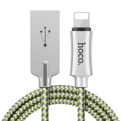 浩酷U10锌合金反光编织充电数据线苹果Lightning快充数据线