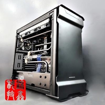 Ryzen7 2700X/GTX1080TI 追风者金属硬管分体式水冷主机全机水冷