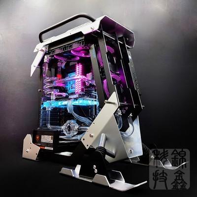 I7 8700/GTX1080雪地摩托主题炫光电竞游戏全机水冷主机DIY组装机