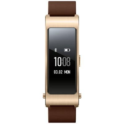 华为手环 B2 牛皮腕带商务版蓝牙耳机与智能手环结合+金属机身+触控屏