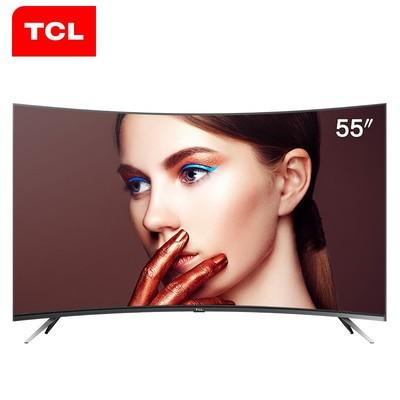 TCL电视 55V1M 55英寸4K 曲面 32核 HDR超薄 网络智能LED液晶电视