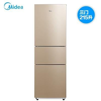 美的冰箱(Midea) BCD-215WTM(E) 215升 三门式 风冷电脑 冰箱