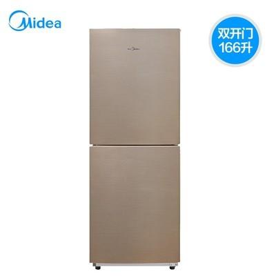 美的冰箱(Midea)BCD-166WM 166升 双门式 风冷 家用小型 铂金净味