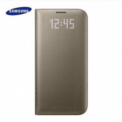 【三星授权专卖 】三星 GALAXY S7 Edge LED智能保护套 三星S7原装手机皮套  适用于三星S7\\\\S7 edge S7 edge-黑色(曲面)