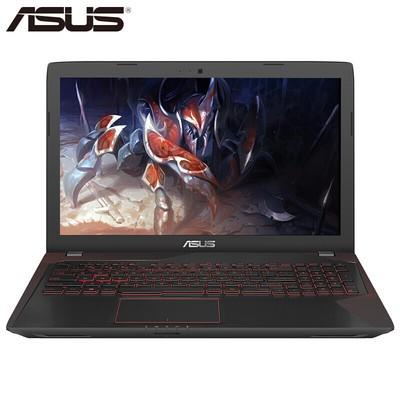 华硕(ASUS)KX53VE 15.6英寸高清屏四核游戏本笔记本电脑 I7-7700HQ/GTX1050TI-4G显存 8G内存+128G固态+1TB