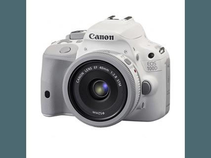 佳能(Canon) EOS 100D 单反套机(EF 40mm f/2.8 STM镜头) 白色 白色