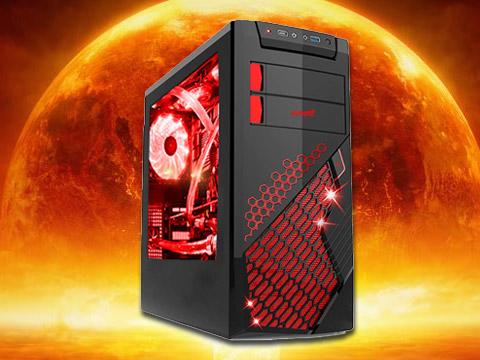 酷睿I5-6500四核处理器,GTX1060 6G 电竟版独显,游戏悍将核武器9侧透机箱,8G内存,纯固态